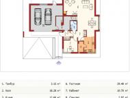 """Поэтажный план, проект дома """"ГОЛИЦЫНО"""" 1 этаж"""