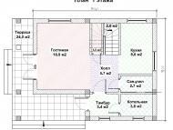 """Поэтажный план, проект дома """"АЛЬТАИР"""" 1 этаж"""