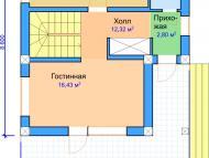 """Поэтажный план, проект дома """"АЛЬТАИР  2"""" 1 этаж"""