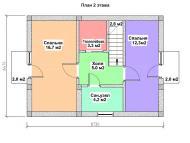 "Поэтажный план, проекта дома ""ОЛЬХА-2"" этаж 2"