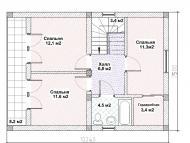 """Поэтажный план, проект дома """"АЛЬТАИР"""" 2 этаж"""