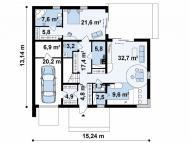 """Поэтажный план, проект дома """"БАЛТИЯ"""" 1 этаж"""