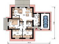 """Поэтажный план, проект дома """"ЧАЙКА"""""""