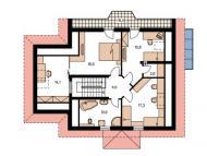 """Поэтажный план, дом по проекту """"ЕВРОПА"""" 2 этаж"""