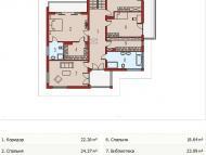 """Поэтажный план, проект дома """"КЕРЧЬ"""" 2 этаж"""