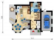 """Поэтажный план, проект дома """"МЕЧТА"""" 1 этаж"""