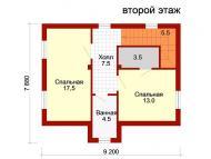 """Поэтажный план, проект дома """"НАДЕЖДА"""" 2 этаж"""