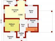 """Поэтажный план, проект дома """"БАЙКАЛ - 2"""" 1 этаж"""