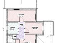 """Поэтажный план, проект дома """"БАЙКАЛ"""" 2 этаж"""