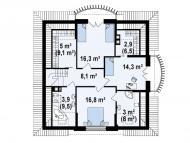 """Поэтажный план, проект дома """"РАПСОДИЯ"""" 2 этаж"""