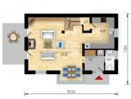 """Поэтажный план, проект дома """"РУБИН"""" 2 этаж"""