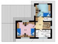 "Поэтажный план, проекта дома ""ВАРНА"" 2 этаж"