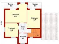 """Поэтажный план, проект дома """"БАЙКАЛ - 2"""" 2 этаж"""