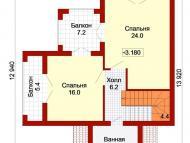 """Поэтажный план, проект дома """"ДОЛЬЧЕ - ПРИМА 5"""" 2 этаж"""