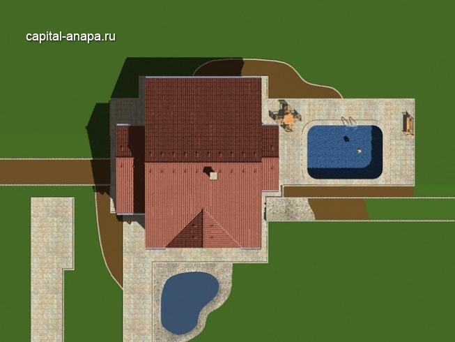 """Проект дома """"АЛЬБАТРОС"""" расположение на участке"""