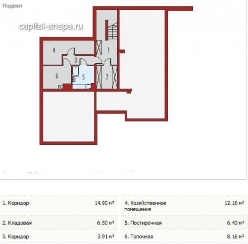 """Поэтажный план, проект дома """"КЕРЧЬ"""" 3 этаж"""
