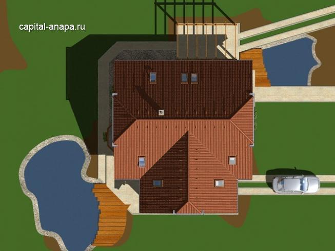 """Проект дома """"ОРЛАНДО"""" расположение на участке"""