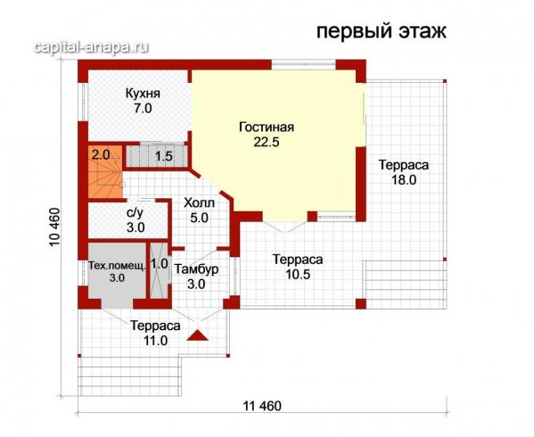 """Поэтажный план, проект дома """"ВЕСНА-1"""" 2 этаж"""