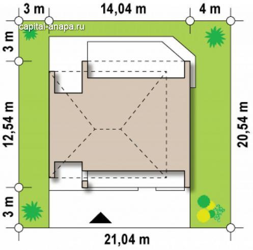 """Проект дома """"СОЛО"""", расположение на участке"""