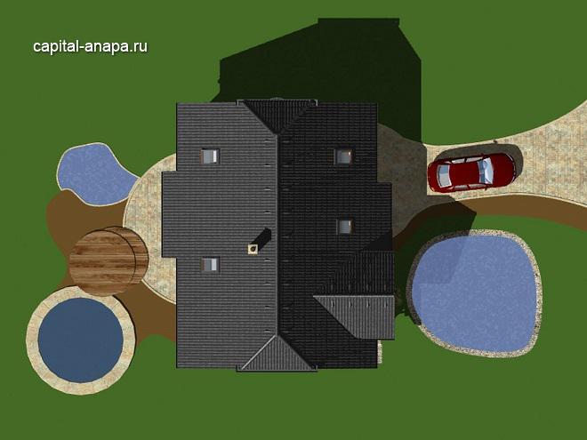 """Проект дома """"КВИНТА - 4"""" расположение на участке"""