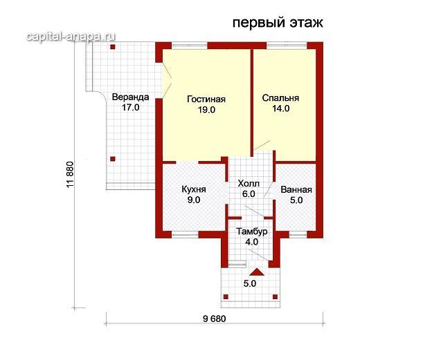 """проект дома """"УЮТНЫЙ -1"""""""