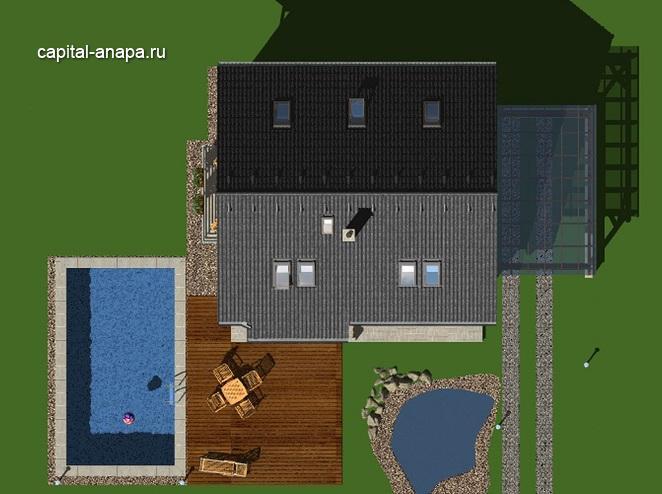 """Проект дома """"ВОЛНА"""", расположение на участке"""